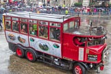 Lord Mayor's Show 2013: 53-Elizabeth the Whitby Steam Bus- travelling down from her Whitby home, which is also the home of Wonderful Whitby Weddings.. Press stand opposite Mansion House, City of London, London, Greater London, United Kingdom, on 09 November 2013 at 11:29, image #692
