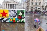 Lord Mayor's Show 2013: 58-CCA ART BUS-is mobile work of art and art gallery designed by Sir Peter Blake.. Press stand opposite Mansion House, City of London, London, Greater London, United Kingdom, on 09 November 2013 at 11:31, image #728