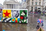 Lord Mayor's Show 2013: 58-CCA ART BUS-is mobile work of art and art gallery designed by Sir Peter Blake.. Press stand opposite Mansion House, City of London, London, Greater London, United Kingdom, on 09 November 2013 at 11:31, image #729
