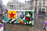 Lord Mayor's Show 2013: 58-CCA ART BUS-is mobile work of art and art gallery designed by Sir Peter Blake.. Press stand opposite Mansion House, City of London, London, Greater London, United Kingdom, on 09 November 2013 at 11:31, image #730