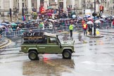 Lord Mayor's Show 2013: 76- 71 (City of London) Signal Regiment-provides military command-and -control in support of Uk operations. The Regiment is today represented by  the Riding Detachment of its Lincoln's Inn-based, 68 (Inns of Court & City and Essex Yeomanry) Signal Squadron.. Press stand opposite Mansion House, City of London, London, Greater London, United Kingdom, on 09 November 2013 at 11:42, image #913
