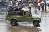 Lord Mayor's Show 2013: 76- 71 (City of London) Signal Regiment-provides military command-and -control in support of Uk operations. The Regiment is today represented by  the Riding Detachment of its Lincoln's Inn-based, 68 (Inns of Court & City and Essex Yeomanry) Signal Squadron.. Press stand opposite Mansion House, City of London, London, Greater London, United Kingdom, on 09 November 2013 at 11:42, image #914