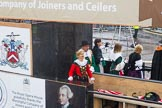 Lord Mayor's Show 2013: 82-Worshipful Company Of Joiners & Ceilers with Zunft Zur Zimmerleuten- the Joiners and Ceilers celebrates its long association with the Swiss Guild of the Zimmerleuten with a troop of horseman and latge contingnet of members in traditional costumes.. Press stand opposite Mansion House, City of London, London, Greater London, United Kingdom, on 09 November 2013 at 11:46, image #1007