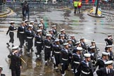 Lord Mayor's Show 2013: 97-HMS President (Royal Naval Reserve London)- is London's Royal Naval Reserve Unit and is reponsible for recruting and training volunteers.. Press stand opposite Mansion House, City of London, London, Greater London, United Kingdom, on 09 November 2013 at 11:52, image #1174