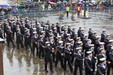 Lord Mayor's Show 2013: 101-London Area Sea Cadet Band-more than 100 Sea Cadets from 16 units across London are taking part in the parade this year.. Press stand opposite Mansion House, City of London, London, Greater London, United Kingdom, on 09 November 2013 at 11:54, image #1203
