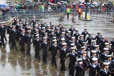 Lord Mayor's Show 2013: 101-London Area Sea Cadet Band-more than 100 Sea Cadets from 16 units across London are taking part in the parade this year.. Press stand opposite Mansion House, City of London, London, Greater London, United Kingdom, on 09 November 2013 at 11:54, image #1205