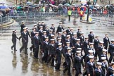 Lord Mayor's Show 2013: 101-London Area Sea Cadet Band-more than 100 Sea Cadets from 16 units across London are taking part in the parade this year.. Press stand opposite Mansion House, City of London, London, Greater London, United Kingdom, on 09 November 2013 at 11:54, image #1206