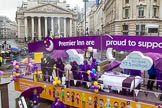 Lord Mayor's Show 2013: 107-Premier Inn supporting Great Ormond Street Hospital- Premier Inn , the Uk's largest hotel brand, selected Great Ormond Street Hospital as its charity partner in 2012.. Press stand opposite Mansion House, City of London, London, Greater London, United Kingdom, on 09 November 2013 at 11:57, image #1252