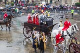 Lord Mayor's Show 2013: Carriages used by the Worshipful Companies and Guilds of the City, further information would be most welcome!. Press stand opposite Mansion House, City of London, London, Greater London, United Kingdom, on 09 November 2013 at 12:09, image #1413