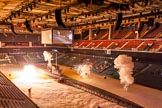 British Military Tournament 2013: Opening the show - explosions as the Royal Navy attacks the German U-Boat.. Earls Court, London SW5,  United Kingdom, on 06 December 2013 at 14:36, image #10