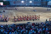 Beating Retreat 2015 - Waterloo 200. Horse Guards Parade, Westminster, London,  United Kingdom, on 10 June 2015 at 21:22, image #317