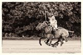 7th Heritage Polo Cup semi-finals: Nico Talamoni playing a nearside shot.. Hurtwood Park Polo Club, Ewhurst Green, Surrey, United Kingdom, on 04 August 2012 at 11:10, image #19