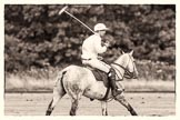 7th Heritage Polo Cup semi-finals: Pedro Harrison with his Best Playing Pony cantering back to centre.. Hurtwood Park Polo Club, Ewhurst Green, Surrey, United Kingdom, on 04 August 2012 at 15:45, image #274