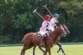 7th Heritage Polo Cup semi-finals: Clare Payne, Team Emerging Switzerlaand, riding back to the Throw In.. Hurtwood Park Polo Club, Ewhurst Green, Surrey, United Kingdom, on 04 August 2012 at 11:06, image #10