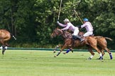 7th Heritage Polo Cup semi-finals: Nico Talamoni braking out with Justo Saveedra Emerging Switzerland following him.. Hurtwood Park Polo Club, Ewhurst Green, Surrey, United Kingdom, on 04 August 2012 at 11:45, image #77