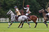 7th Heritage Polo Cup semi-finals: Sarah Wisman of the Ladies of the British Empire Polo Team & Emma Boers.. Hurtwood Park Polo Club, Ewhurst Green, Surrey, United Kingdom, on 04 August 2012 at 13:11, image #104
