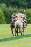 7th Heritage Polo Cup semi-finals: Heading to goal Rosie Ross & Barbara P Zingg.. Hurtwood Park Polo Club, Ewhurst Green, Surrey, United Kingdom, on 04 August 2012 at 13:14, image #118
