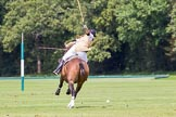 7th Heritage Polo Cup semi-finals: Heloise Lorentzen in full swing towards goal.. Hurtwood Park Polo Club, Ewhurst Green, Surrey, United Kingdom, on 04 August 2012 at 13:50, image #180