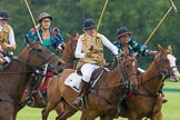 7th Heritage Polo Cup semi-finals: Ride off Barbara P Zingg (SUI)  v Uneku Atawodi (NG).. Hurtwood Park Polo Club, Ewhurst Green, Surrey, United Kingdom, on 04 August 2012 at 14:04, image #196