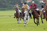 7th Heritage Polo Cup semi-finals: Heloise Lorentzen of the Amazons of Polo Polistas asking for the line from the AMG PETROENERGY Player Erin Jones.. Hurtwood Park Polo Club, Ewhurst Green, Surrey, United Kingdom, on 04 August 2012 at 14:05, image #197