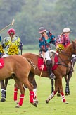 7th Heritage Polo Cup semi-finals: AMG PETROENERGY Polo Team wearing the 4 coloured Fashion Designs of DZNY from Nigeria.. Hurtwood Park Polo Club, Ewhurst Green, Surrey, United Kingdom, on 04 August 2012 at 14:05, image #199
