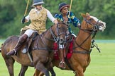 7th Heritage Polo Cup semi-finals: Ride Off between Emma Boers & Uneku Atawodi from Nigeria.. Hurtwood Park Polo Club, Ewhurst Green, Surrey, United Kingdom, on 04 August 2012 at 14:10, image #205