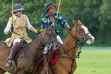7th Heritage Polo Cup semi-finals: Ride Off between Emma Boers & Uneku Atawodi from Nigeria.. Hurtwood Park Polo Club, Ewhurst Green, Surrey, United Kingdom, on 04 August 2012 at 14:10, image #206