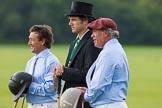 7th Heritage Polo Cup semi-finals: Sebastia Funes - Umpire Guy Higginson - Mariano Darritchon, La Mariposa Argentina Polo Team.. Hurtwood Park Polo Club, Ewhurst Green, Surrey, United Kingdom, on 04 August 2012 at 15:27, image #235