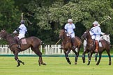 7th Heritage Polo Cup semi-finals: La Mariposa Argentina Mariano Darritchon riding back to centre with Timothy Rose.. Hurtwood Park Polo Club, Ewhurst Green, Surrey, United Kingdom, on 04 August 2012 at 15:43, image #266
