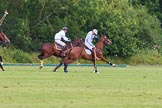 7th Heritage Polo Cup semi-finals: La Mariposa Argentina Timothy Rose playing the ball on his offside with Brownie Taylor on his side.. Hurtwood Park Polo Club, Ewhurst Green, Surrey, United Kingdom, on 04 August 2012 at 15:53, image #292