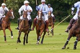 7th Heritage Polo Cup semi-finals: Paul Oberschneider La Golondrina riding along side Timothy Rose La Mariposa.. Hurtwood Park Polo Club, Ewhurst Green, Surrey, United Kingdom, on 04 August 2012 at 15:56, image #302