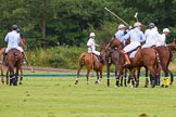 7th Heritage Polo Cup semi-finals: Looking at the Umpire.. Hurtwood Park Polo Club, Ewhurst Green, Surrey, United Kingdom, on 04 August 2012 at 15:59, image #304