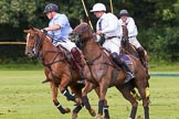 7th Heritage Polo Cup semi-finals: Alex Vent challenged turning on the ball, Pedro Harrison is there to attack.. Hurtwood Park Polo Club, Ewhurst Green, Surrey, United Kingdom, on 04 August 2012 at 16:11, image #311