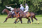 7th Heritage Polo Cup semi-finals: La Golondrian Argentina - Pedro Harrison playing a nearside shot.. Hurtwood Park Polo Club, Ewhurst Green, Surrey, United Kingdom, on 04 August 2012 at 16:12, image #313