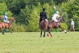 7th Heritage Polo Cup semi-finals: La Golondrina Argentina Pepe Riglos (6) ARG going towards goal.. Hurtwood Park Polo Club, Ewhurst Green, Surrey, United Kingdom, on 04 August 2012 at 16:16, image #323