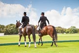 7th Heritage Polo Cup finals: Umpires Oli Hipwood & Guy Higginson in Tails, Top Hat and T.M. Lewin Luxury Shirt.. Hurtwood Park Polo Club, Ewhurst Green, Surrey, United Kingdom, on 05 August 2012 at 13:13, image #9