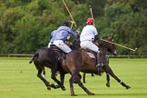 7th Heritage Polo Cup finals: Team Silver Fox USA John Martin in defence against Sebastian Funes.. Hurtwood Park Polo Club, Ewhurst Green, Surrey, United Kingdom, on 05 August 2012 at 13:22, image #17