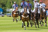 7th Heritage Polo Cup finals: Henry Fisher of Silver Fox USA Polo Team on the ball in the Final of the 7th HERITAGE POLO CUP 2012 v Mariano Darritchon of La Mariposa Argentina Polo Team (T.M.Lewin Official Shirt & Tie Supplier).. Hurtwood Park Polo Club, Ewhurst Green, Surrey, United Kingdom, on 05 August 2012 at 13:25, image #25