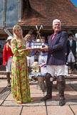"7th Heritage Polo Cup finals: Sponsor Claire Cotton of ""Cotton & Gems"" presenting the Trophy  HERITAGE POLO CUP to  WINNER 2012 Silver Fox Polo Patron Parke Bradley.. Hurtwood Park Polo Club, Ewhurst Green, Surrey, United Kingdom, on 05 August 2012 at 14:41, image #89"