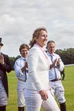 7th Heritage Polo Cup finals: Presentation Sarah Krasker.. Hurtwood Park Polo Club, Ewhurst Green, Surrey, United Kingdom, on 05 August 2012 at 17:06, image #271