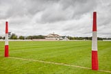 DBPC Polo in the Park 2012: The clubhouse seen from the goal line of the red pitch on the Eastern side of the grounds.. Dallas Burston Polo Club, Stoneythorpe Estate, Southam, Warwickshire, United Kingdom, on 16 September 2012 at 09:05, image #8