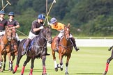 DBPC Polo in the Park 2012: Kangaroo teams Amy Harper, on the right, playing the ball.. Dallas Burston Polo Club, Stoneythorpe Estate, Southam, Warwickshire, United Kingdom, on 16 September 2012 at 10:46, image #50