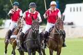 DBPC Polo in the Park 2012: Phoenix Polo Team #4, Susi Boyd, #1, Molly Davies, and #3, Tomy Iriarte.. Dallas Burston Polo Club, Stoneythorpe Estate, Southam, Warwickshire, United Kingdom, on 16 September 2012 at 11:40, image #96