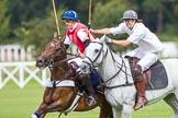 DBPC Polo in the Park 2012: Phoenix Polo Team #3, Tomy Iriarte, and Rathbones #3, Tom Gilks.. Dallas Burston Polo Club, Stoneythorpe Estate, Southam, Warwickshire, United Kingdom, on 16 September 2012 at 11:49, image #103
