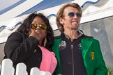 DBPC Polo in the Park 2012: Soul Diva Kym Mazelle and rock musician Ulf Karnemann.. Dallas Burston Polo Club, Stoneythorpe Estate, Southam, Warwickshire, United Kingdom, on 16 September 2012 at 15:52, image #242