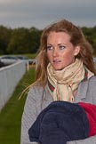 DBPC Polo in the Park 2012: Chloe Hunt, acting goal judge and daughter of Polo Manager and umpire Ian 'Ginger' Hunt.. Dallas Burston Polo Club, Stoneythorpe Estate, Southam, Warwickshire, United Kingdom, on 16 September 2012 at 17:48, image #299