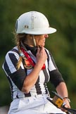 DBPC Polo in the Park 2012: Swiss umpire Barbara Zingg, former Polo Manager of the Royal Military Academy Sandhurst and founder of Heritage Polo.. Dallas Burston Polo Club, Stoneythorpe Estate, Southam, Warwickshire, United Kingdom, on 16 September 2012 at 18:17, image #320