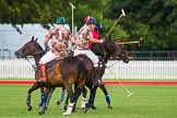 DBPC Polo in the Park 2012: Royal Artillery #1, Bombardier Richard Morris, #2, Alex Vent, #2, Major Andy Wood, and DBPC #3, Mark Weller.. Dallas Burston Polo Club, Stoneythorpe Estate, Southam, Warwickshire, United Kingdom, on 16 September 2012 at 18:37, image #327