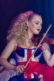 Grand Opening of the DBPC IXL Event Centre: JParmoire's Folies - violin player Rosalie Butcher.. Dallas Burston Polo Club, Stoneythorpe Estate, Southam, Warwickshire, United Kingdom, on 05 December 2013 at 20:16, image #133