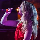 Grand Opening of the DBPC IXL Event Centre: Ava Leigh on stage.. Dallas Burston Polo Club, Stoneythorpe Estate, Southam, Warwickshire, United Kingdom, on 05 December 2013 at 21:25, image #170